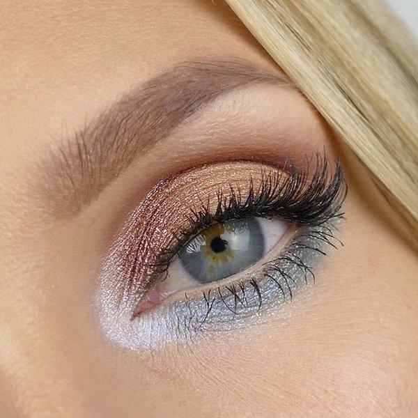 опушен грим за сини очи